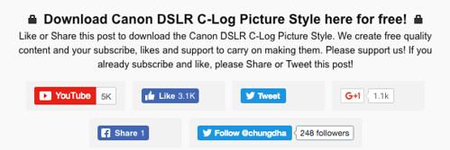 Canon DSLR C-Log vs Technicolor Cinestyle