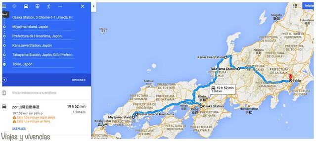 mapa planning japon