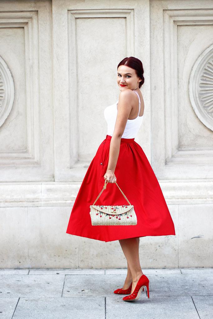 red midi skirt2