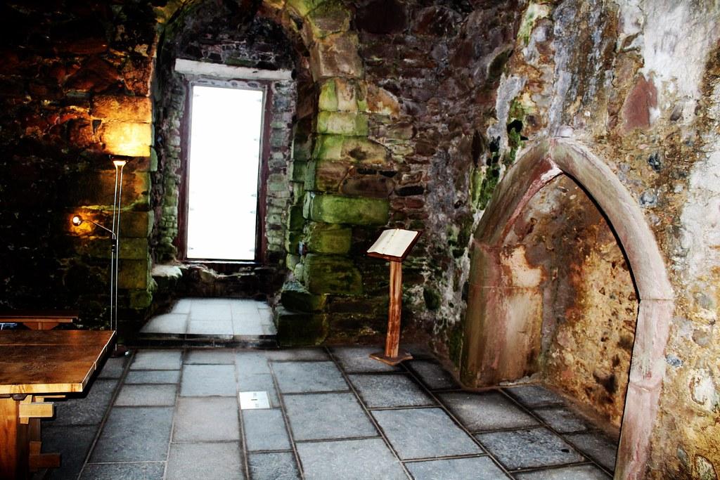Interior of Portencross Castle, Scotland.