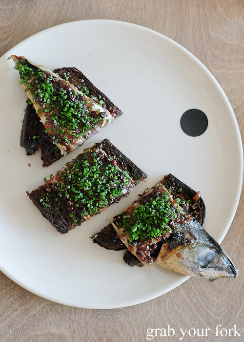 Ulladulla blue mackerel on toast at Saint Peter by Chef Josh Niland in Paddington Sydney