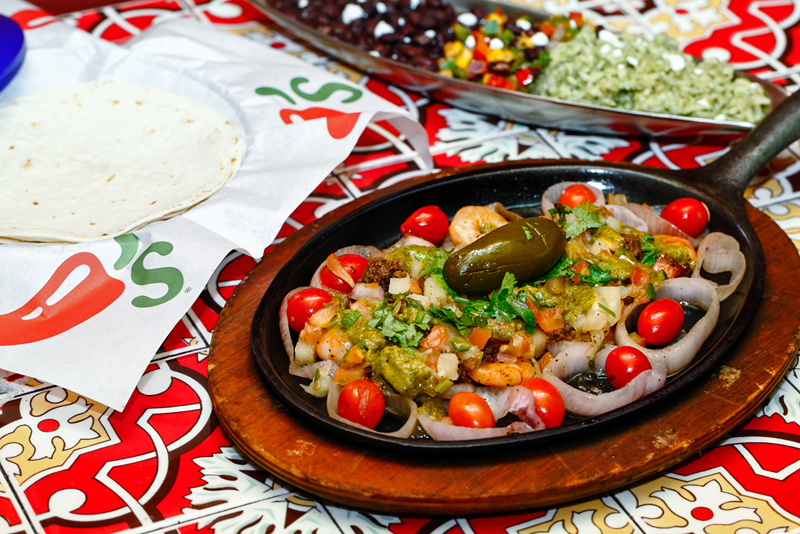 Chili's Prawn Fajita with Tortilla Wraps