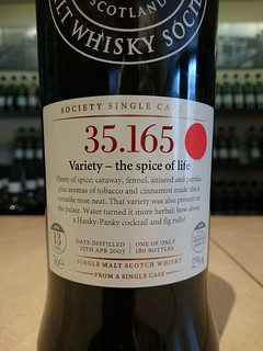 SMWS 35.165 - Variety - the spice of life
