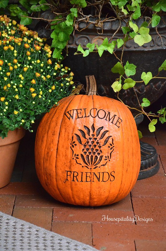 Hospitality Pumpkin - Welcome Friends Pumpkin - Housepitality Designs