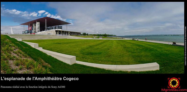 L'esplanade de l'Amphithéâtre Cogeco