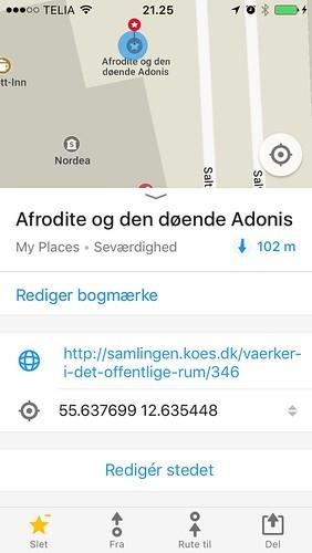 OpenStreetMap/maps.me - Afrodite og Den Døende Adonis - Detaljer