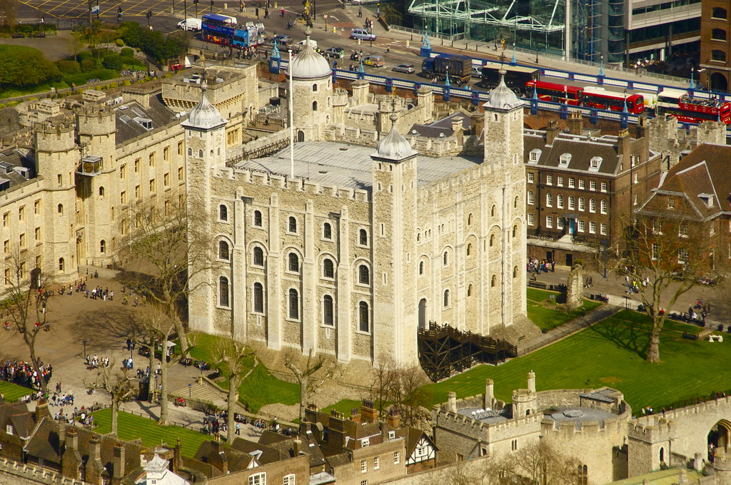 Tower of London from The Shard.