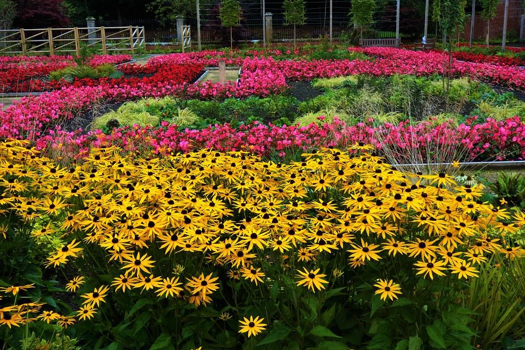 Walled Garden at Rouken Glen, Glasgow, Scotland.