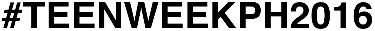 #TEENWEEKPH2016