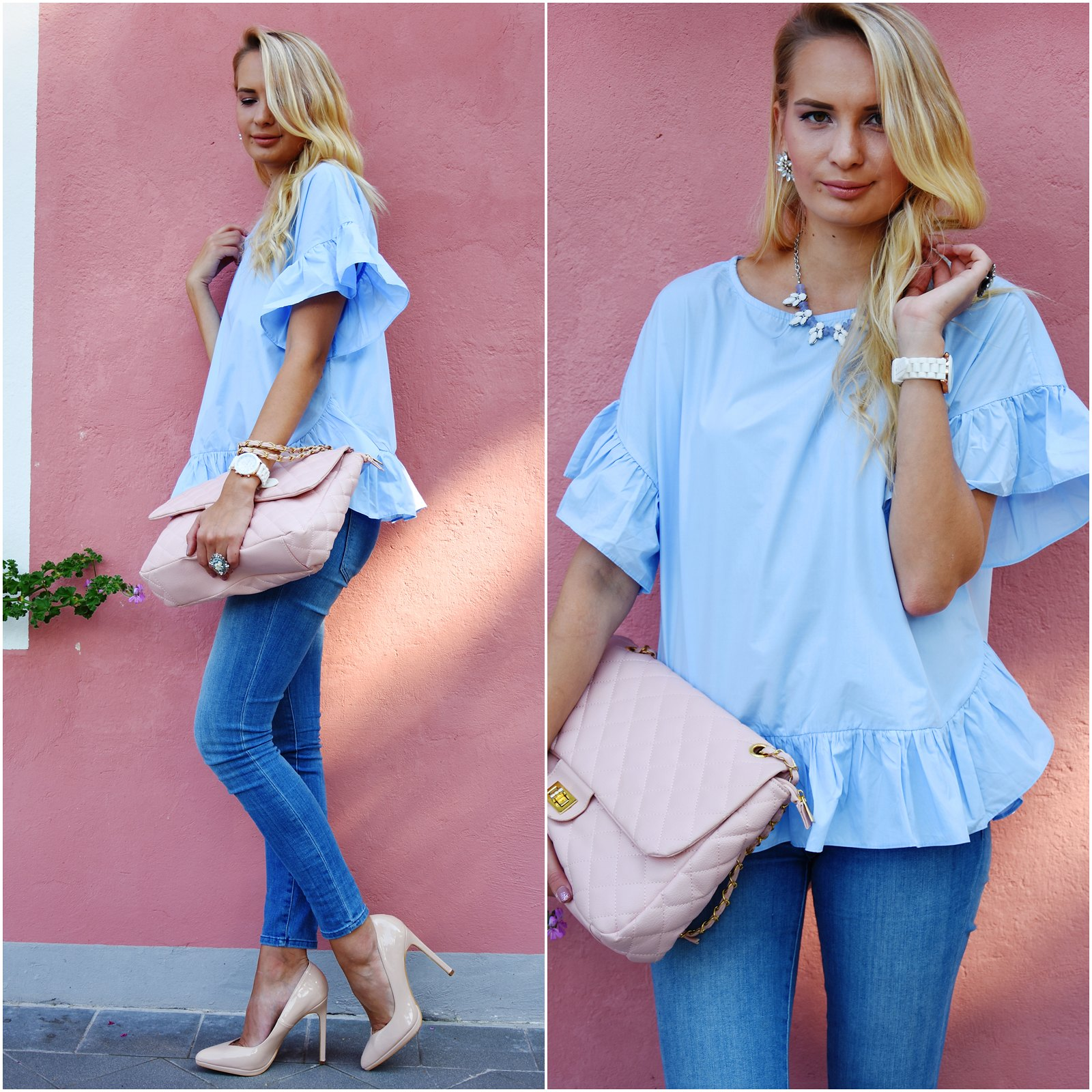 Styling a ruffled blouse