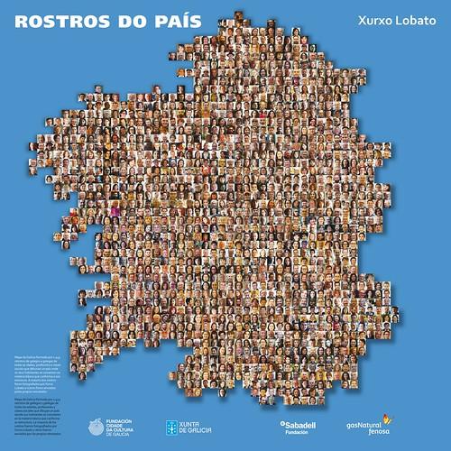 "Mapa ""Rostros do país"" - Copyright Xurxo Lobato"