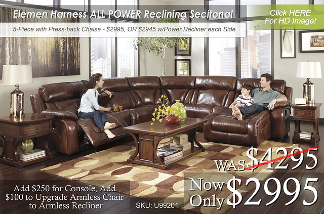 Elemen Harness Power Reclining Sectional U99201