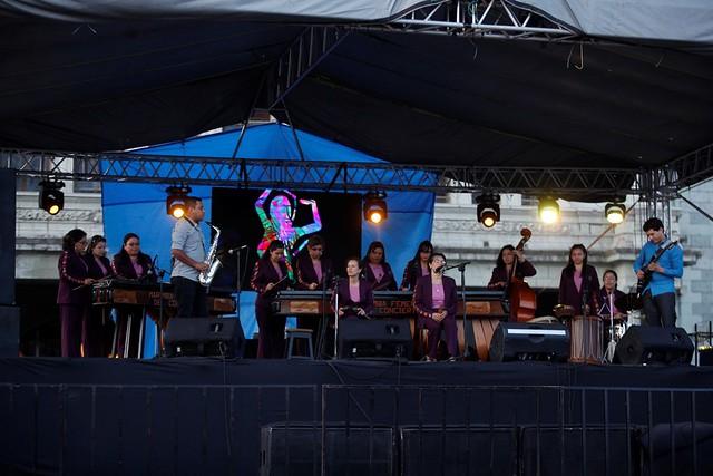 La fusión de la Marimba Femenina de Concierto deleita al público del Festival del Centro Histórico