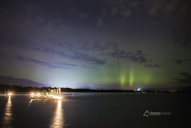 Aurora over Sandpoint