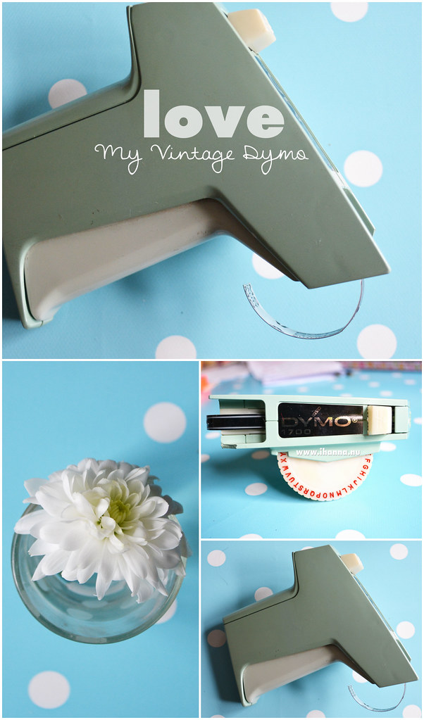 My vintage Dymo label maker is so loved, photo and blog post by @ihanna #labelmaker