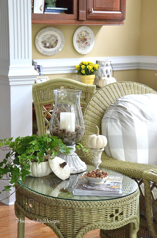 Sunroom - Fall Vignette - Housepitality Designs