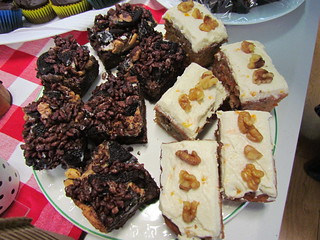 Peanut Butter Oreo Crispy Brownies; Carrot and Walnut Cake
