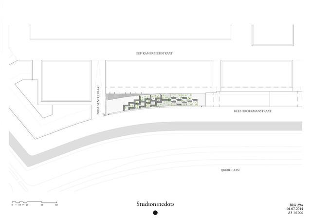 План студенческого общежития в Амстердаме от Studioninedots