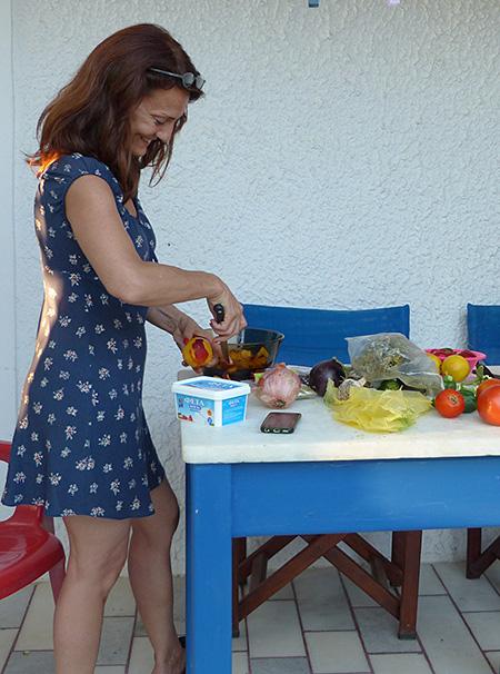 carole en cuisine