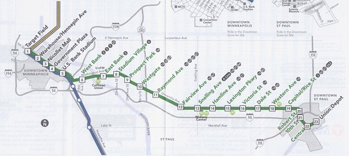 MetroTransit Green Line 2016 Map