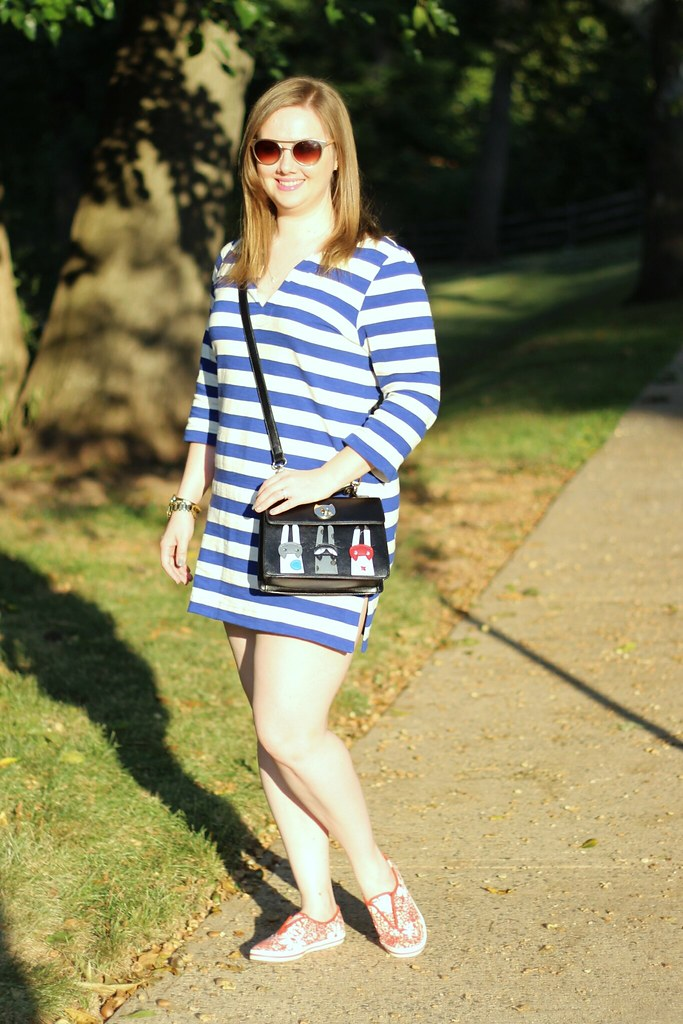 Striped Tunic and Cat Purse (5)