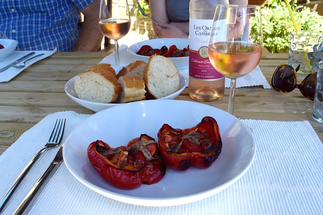 Summer Lunch of Italian Roasted Peppers with Tomatoes and Anchovies | www.rachelphipps.com @rachelphipps