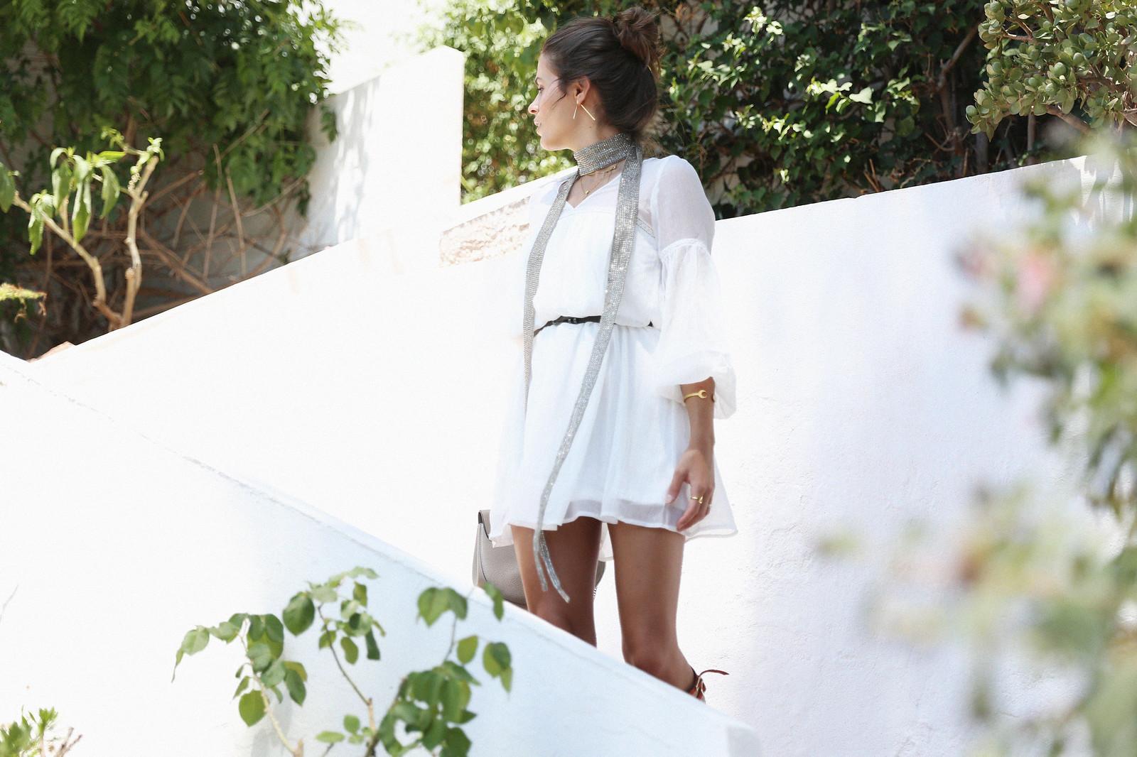 Jessie Chanes Seams for a desire Short White Dress-5