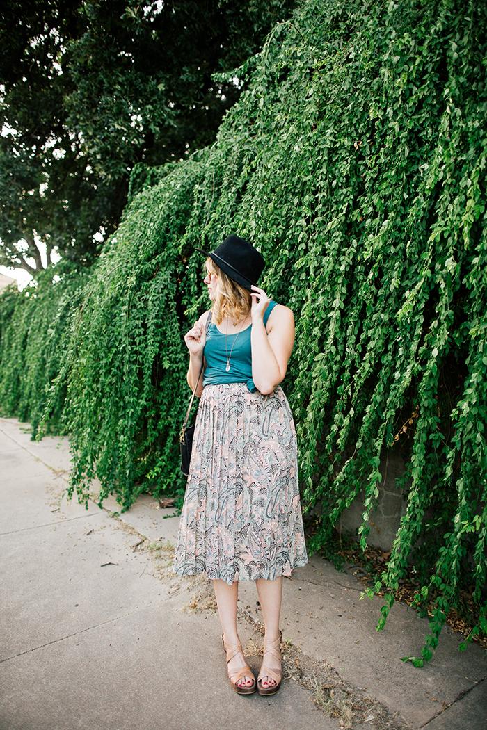 pieceology vintage midi skirt2