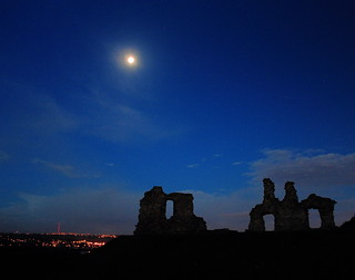 Sandal Castle moonlight at dawn 2 | by Paul Curnin