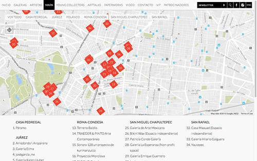 Gallery Weekend Mexico Map #gwm #gwm2016