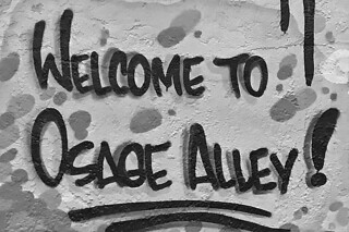 Osage Alley Murals - Welcome sign
