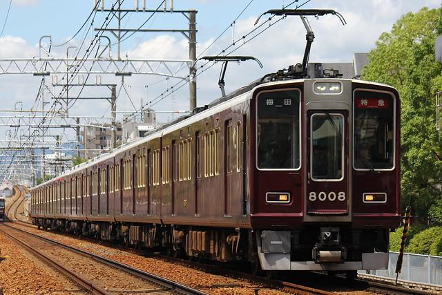 2016/08/30 阪急8000系C#8008×8