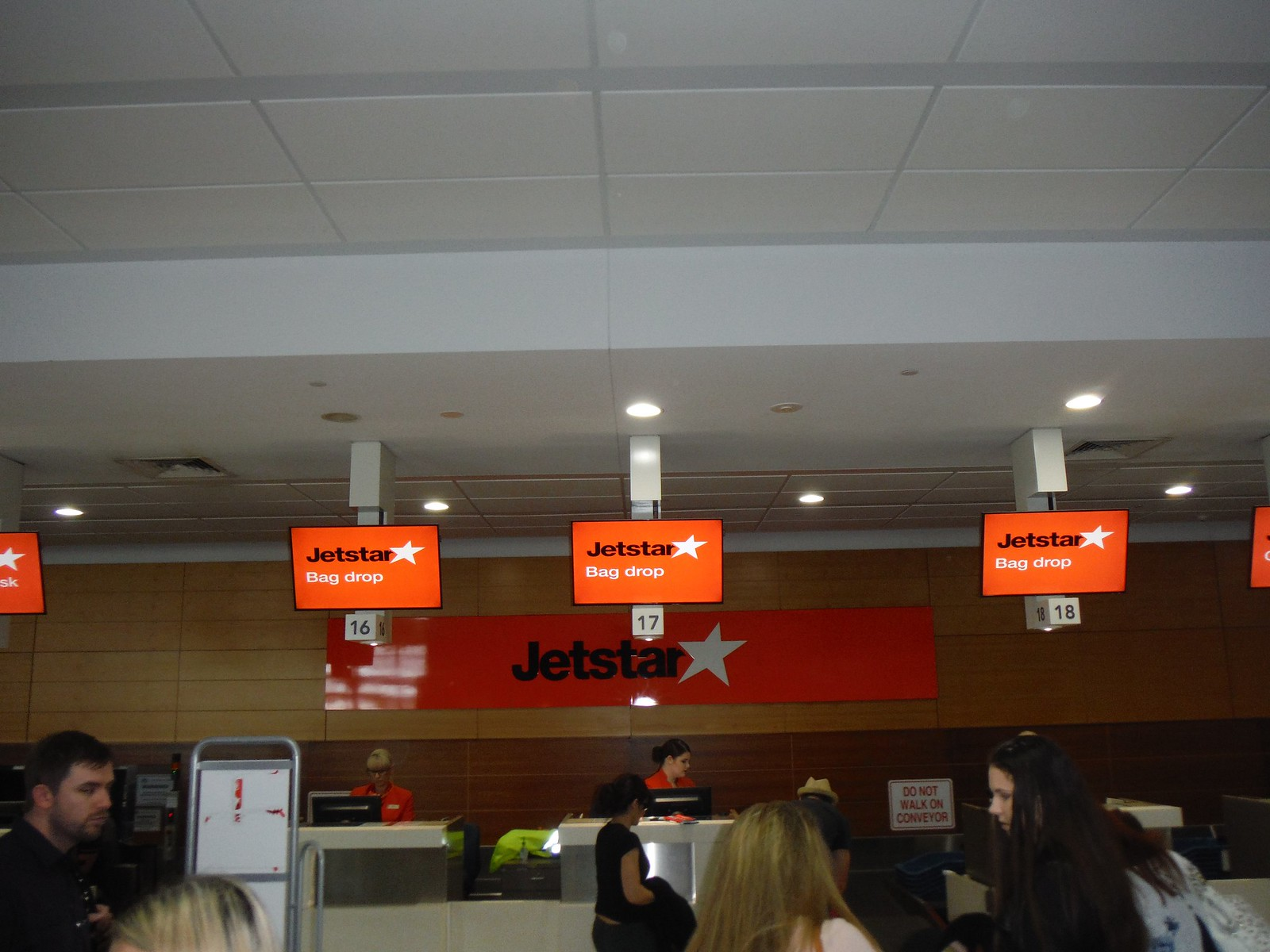 Dropping bags off with JetStar