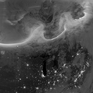 Auroras over North America as Seen from Space | by NASA Goddard Photo and Video