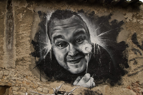 Kim Dotcom, painted portrait by Cart'1 @ Abode of Chaos DDC_7614 | by Abode of Chaos