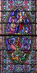 Resurrection of Christ (below) and Mary Magdalene mistakes the Risen Christ for the gardener (above) by Didron of Paris, 1863