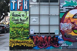 Osage Alley Murals - Window mural