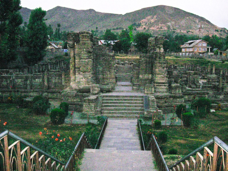 Avantiswamin Temple in Awantipora, Jammu and Kashmir, India