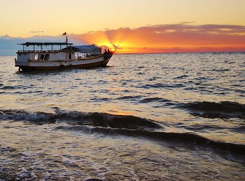 Fishing boat  in Timor Leste. Photo by Jennifer King, 2012.