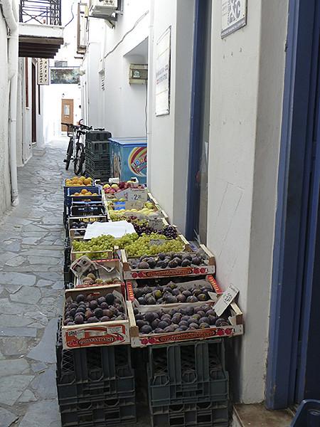 fruits dans la rue à Hora