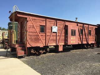 Portola CA, Western Pacific Railroad Museum - WP645 caboose, August 2016