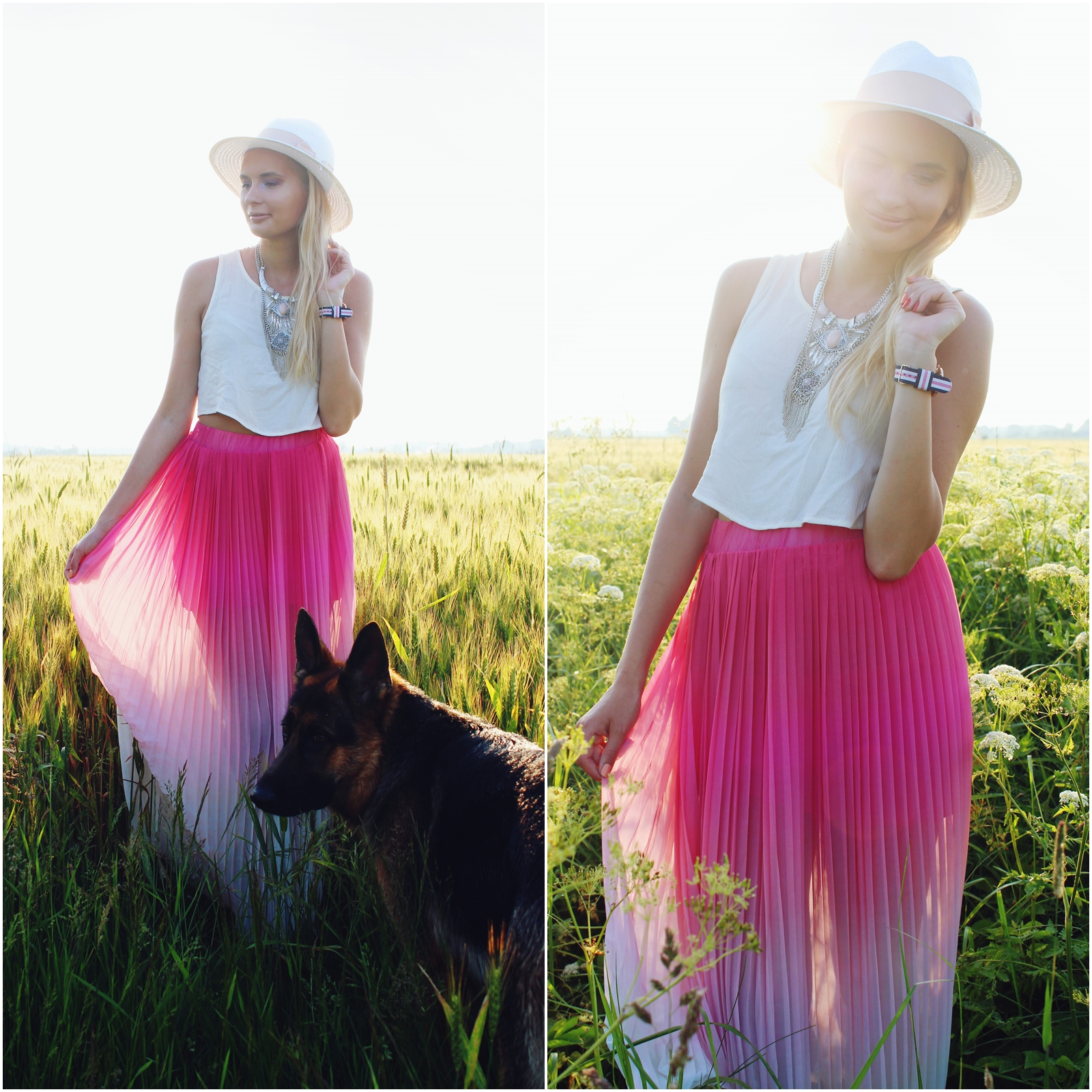Ombre maxi skirt Quiz Clothing