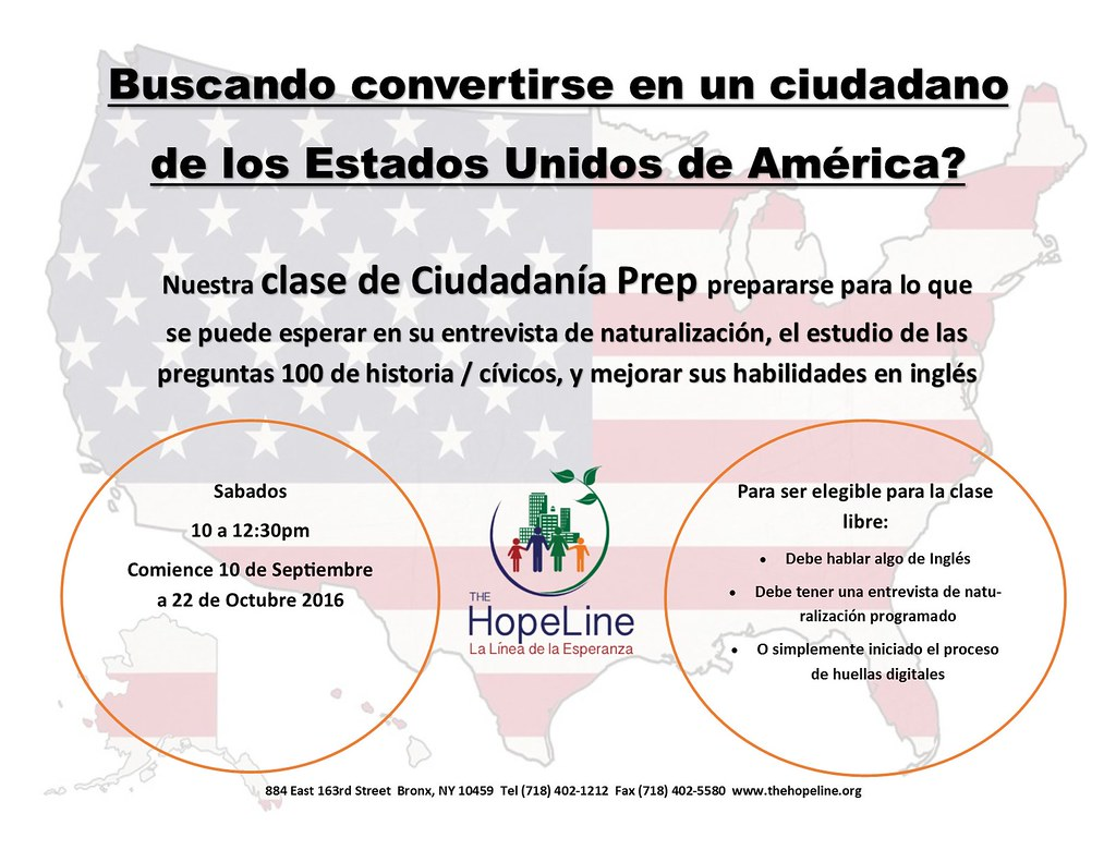 spanish civics flyer