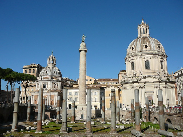 Trajan column and churches