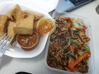 Pad Thai and Tofu with Peanut