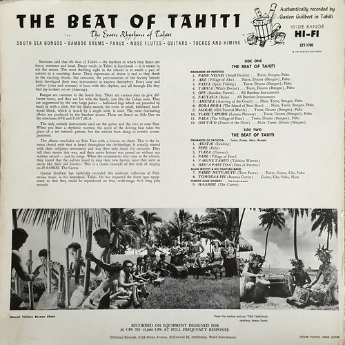 Beat of Tahiti back cover