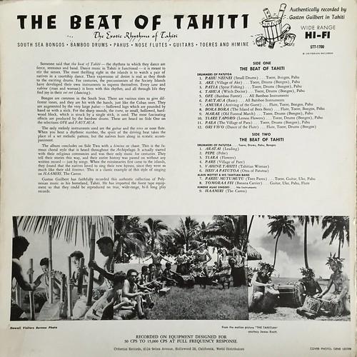 Beat of Tahiti back cover