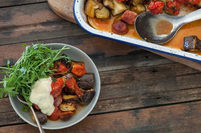 Chorizo & Eggplant Supper-2