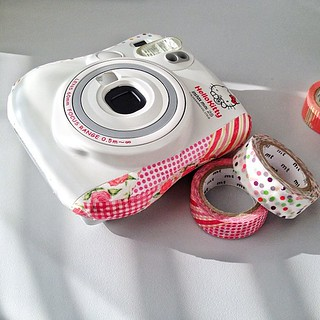 Masking tape on instax camera, easy to make things nice n not permanent, maybe we will teach people how to do it in the next event | by Patrick Ng