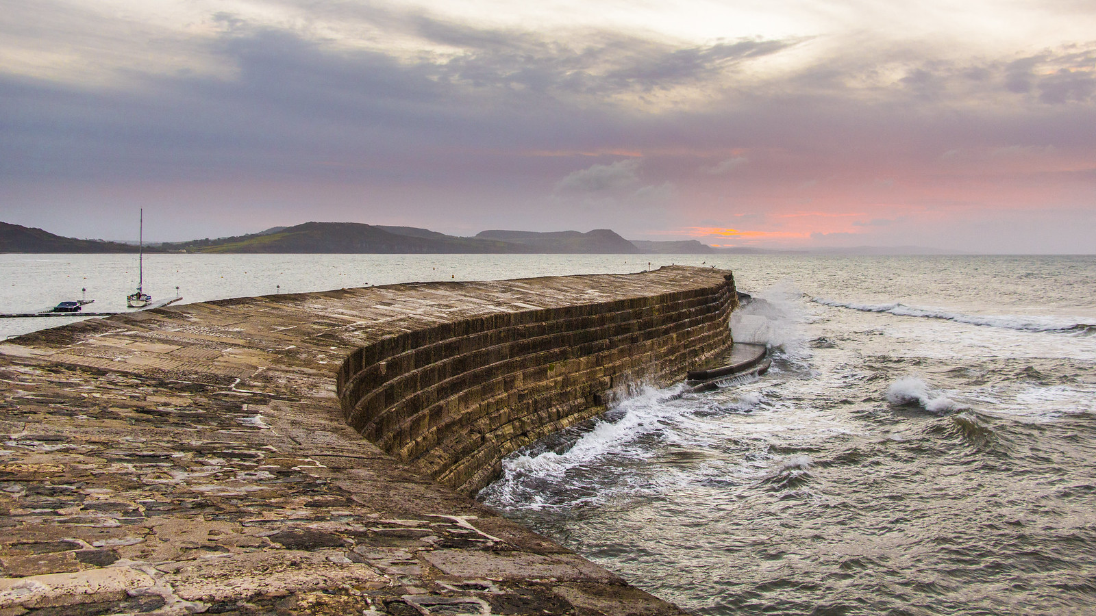 a Lyme Regis Cobb Wall sunrise 1